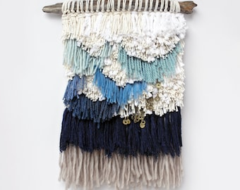 Shaggy Scallop and Tribal Fringe Weaving Woven Wall Hanging