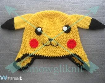 Pikachu Pokémon Inspired Beanie Hat, pokemon Go, Ash Ketchum, Costume