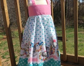 Toddler Sundress - Girls Easter Dress - Spring Dress - Teal and white Polka dot dress -  Bunny dress - Boutique Dress - Girls fashion