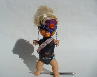 "Punk Rock Rebel Girl Baby Doll - Film Prop In Rebel Mouse Films Production ""The Crying Baby Mystery"""