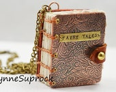 Miniature Mixed Metal Book With Brass Stamping