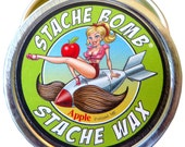 Apple Stache Bomb Stache Wax--- Moustache Wax From Maine