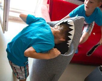 SHARK felt kids toy storage basket, Toy storage, Kids storage bin, Toy basket, Toy bin, Fun storage, Shark bin, Kid basket, Gift ideas