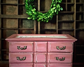 Jewelry Box, Upcycled Jewelry Box, Painted Jewelry Box, Farmhouse Jewelry Box, Shabby Chic Jewelry Box, Decoupaged Jewelry Box