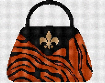 Needlepoint Kit or Canvas: Leopard Purse