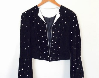 80s blinged out bejeweled dance party blazer medium large