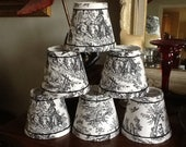 Sale*****French toile chandelier lampshades Black and White toile