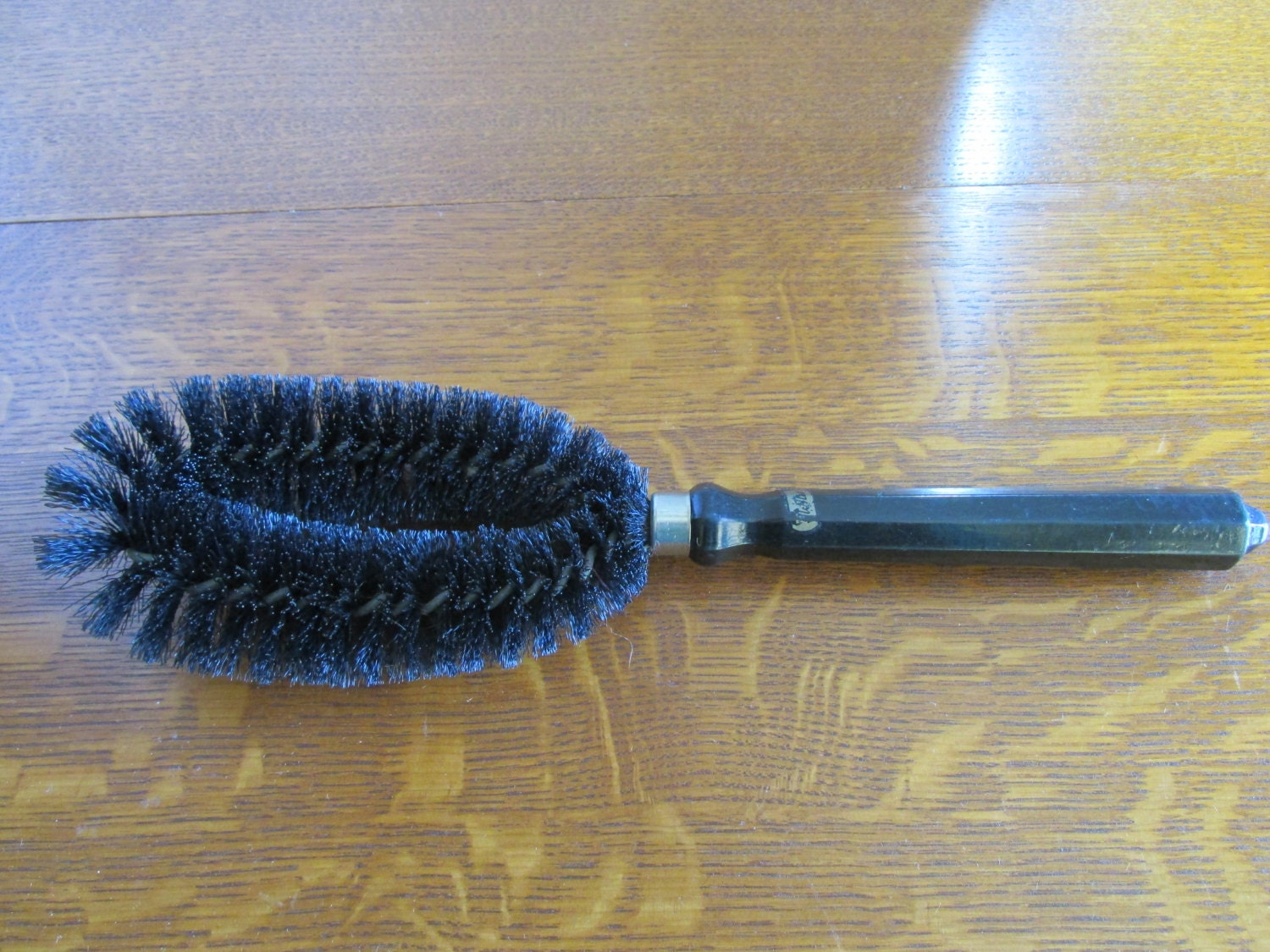vintage clothes brush with wood handle by granskitchen on etsy