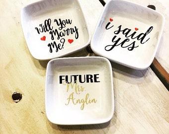 Ring Dish, Engagement Ring Dish, Photo Prop, Ring Holder, Engagement Photo Prop, Ring Holder, Bridal Shower Gift, Bridesmaid Gift