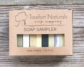Soap Sampler Set - Soap Ends, All Natural soap, Handmade soap, Cold Process soap, essential oil soap, vegan soap, soap box