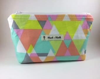 Essential Oils Bag/ Neon Triangles
