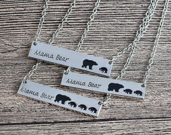 Mama bear Necklace - mother's day