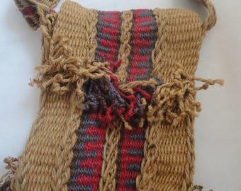 Vintage Macrame Woven Messenger Bag, Macrame Braided Messenger Sac, Macrame Purse, Boho Messenger Bag, Boho Macrame Sac, Handmade Bag