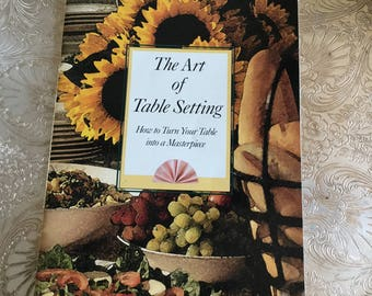1992 JC Penney Art of Setting the Table Booklet-10 Pages