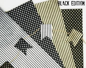 Printed Felt // Metallic Printed Wool Felt // Metallic Printed Wool Felt BLACK EDITION // Printed Foil // Foil Fabric