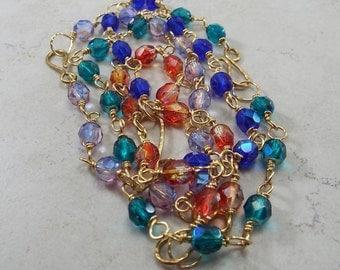 Boho Brass Handmade Bracelet Pick your color