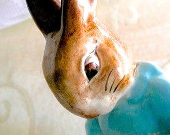 Beswick Figurine - Cecily Parsley - Bunnykins Figurine - Beatrix Potter's Bunny - Cabinet Figurine - Made In England - 1960's Figurine