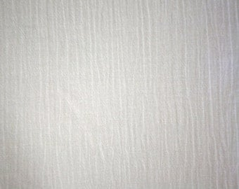 "White Cotton Gauze Fabric 52"" Wide Per Yard"