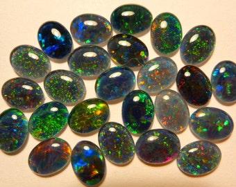 Opal Stones Natural Triplet Parcel Lot 8x6mm Oval 25 Piece's. item  110367.