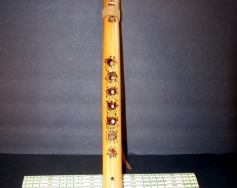 Native American Style Bamboo Flute. Key =A# Five Holes.