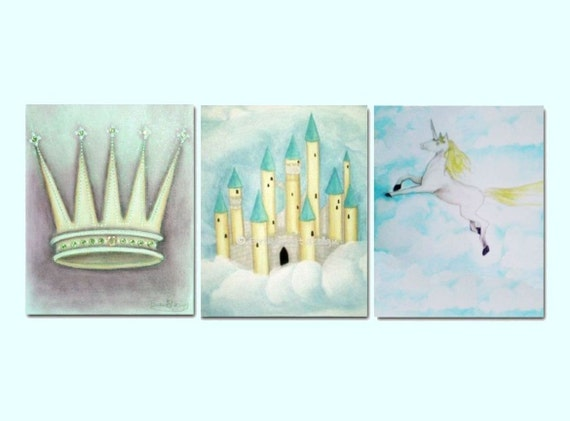 Prince Crown Wall Decoration : Prince nursery decor prints baby boy by handpainting