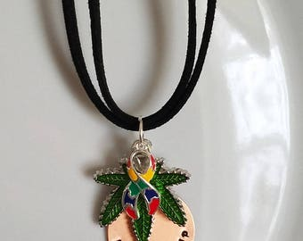 Reserved for Jennifer, Autism custom necklace