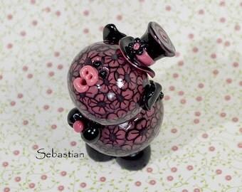 Sebastian Polymer Clay Piglet