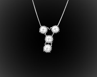 Necklace Arctic Silver embroidery