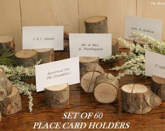 5 Rustic Place Card Holder, Escort Card Holder, Place Holder, Rustic Wedding Decor, Wood Place Card Holder, Rustic Wedding Supplies