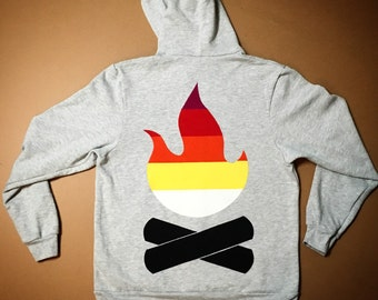 The Campfire hoodie by Frozen Kiss 2017 camping zippy