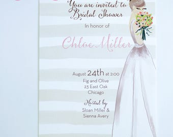 BRIDAL SHOWER INVITATIONS  - Blushing Bride