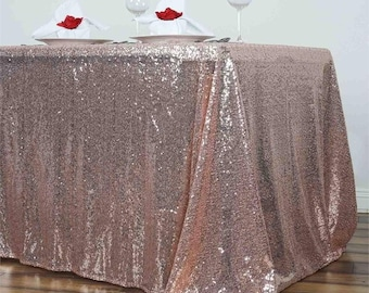 Perfect Sequin Tablecloth Gold Champagne Turquoise Green Silver Fuchsia Pink Sparkly  Reception Wedding Table Custom 90 X
