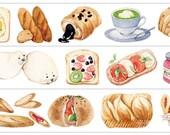 1 Roll Limited Edition Washi Tape: Yummy Yummy Bread