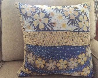 """Recycled Sari Pillow Cover 18"""" x 18"""""""