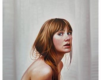 "Giclée Fine Art Print Original Painting Unveiled 10""x10"""