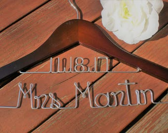 SALE/Personalized Hangers/ Mother of the Bride/Personalized Wedding Hanger/Personalized  Hangers/Weddings/Bride/Wedding Dress Hangers