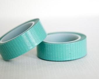 Masking tape, washi tape turquoise 15mm x 10m 1 roll