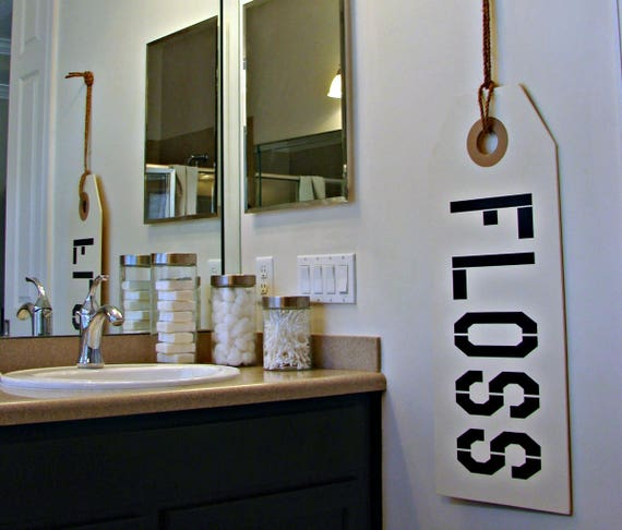 floss sign bathroom sign bathroom decor bathroom rules dentist