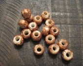 9mm Marble Brown Glass Crow Beads ~ one package of 50 pieces