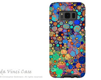 Samsung Galaxy S8 PLUS Case - Colorful abstract dual layer Galaxy S 8 PLUS Case - Confetti Bubbles - Dual Layer S8 PLUS Cover