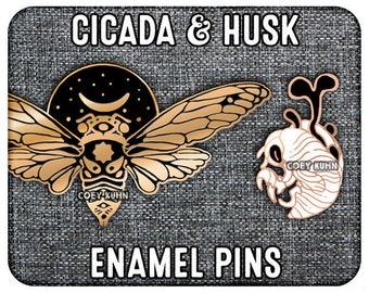 Coey: PREORDER Cicada and Husk (Enamel Pins)