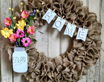 Southern charm burlap wreath