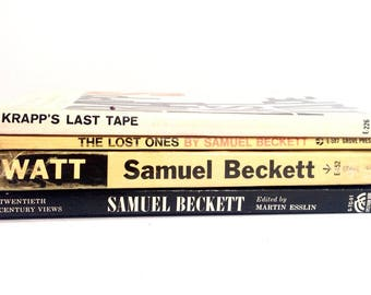 Samuel Becket Collection, Vintage Book Set, Great Author, Krapps Last Tape, Existentialism