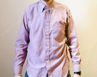 Vintage 1990s Size Large Button Up Pastel Pink-ish Shirt