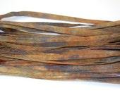 5YD CAMOUFLAGE Hand Dyed Silk Cording//4MM Hand Dyed DIY Silk Necklace/Bracelet Cording//Hand Dyed 5YD. Silk Cording Bundles