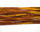 5YD GOLD RUSH Hand Dyed Silk Cording//4MM Hand Dyed DIY Silk Necklace/Bracelet Cording//Hand Dyed 5YD. Silk Cording Bundles