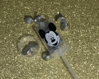 Candy or Confetti Holder Mickey Mouse in Plastic Popper Container