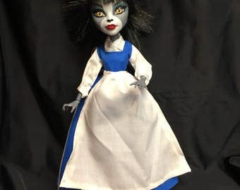 Beauty Classic Blue and White Frock for your Monster High Doll