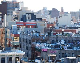 New York Building Graffiti NYC Wall Art Home Decor