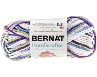 Bernat Handicrafter Ombres Cotton Yarn in Fruit Punch